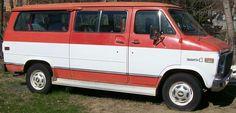Classic Chevy two tone van