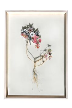 look again... these are paper florals on real wooden stems!      the amazing work of Anne Ten Donkelaar