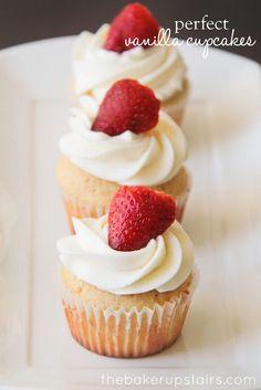 """Perfect Vanilla Cupcakes"" Recipe #cupcakes #cupcakeideas #cupcakerecipes #food #yummy #sweet #delicious #cupcake"
