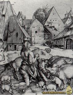 Alberto Durero - El hijo pródigo entre los cerdos