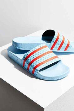 a70a6d0b9ab2 adidas Blush Blue Adilette Pool Slide