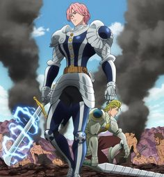 """Gilthunder and Howzer from """"Seven Deadly Sins"""""""