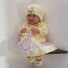 "Handmade Baby Dolls Clothes for 12""-14"" BERENGUER / CUPCAKE La Newborn / Reborn"