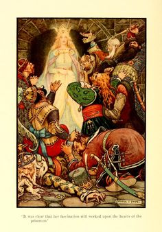Frank Cheyne Pape (1878 - 1972) Illustrations for Book of Russian Tales 1916