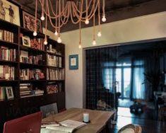 Historické závesné lanové svietidlo Pavúk1 Cage Pendant Light, Chandelier, Ceiling Lights, Curtains, Bedroom, Modern, Table, House, Furniture