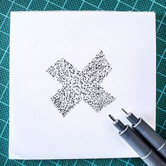 Had to stipple that shape up with some 0.1 & 0.6 fineliners :) @36daysoftype #36days_x #36daysoftype03 #36daysoftype
