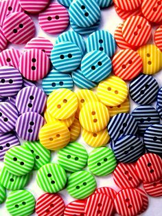 Striped Colored Buttons  #buttons