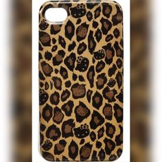 Hello kitty iPhone 4/4s case Great condition leopard hello kitty case Hello Kitty Accessories Phone Cases