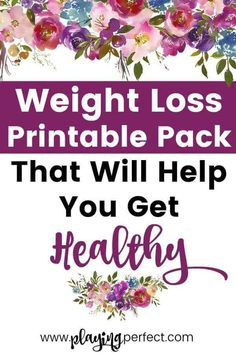 Weight loss printable pack to get healthy! Here are some inspiring printables for losing weight motivation! It can be hard getting to your healthy weight so these weight loss inspiration printables can help! Grab your FREE weight loss printables! Weight Loss Challenge, Weight Loss Goals, Weight Loss Motivation, Fitness Motivation, Healthy Weight, Get Healthy, Healthy Eating, Weight Loss Snacks, Weight Loss Inspiration