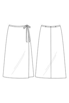The Laura wrap skirt sewing pattern, from Seamwork. The wrap skirt is a universally flattering style that complements a variety of shapes. The Laura skirt offers a subtle A-line shape and an ultra-flattering, bias-cut fit. Beginner Sewing Patterns, Skirt Patterns Sewing, Sewing Basics, Sewing For Beginners, Clothing Patterns, Skirt Sewing, A Line Skirt Pattern, Sew Pattern, Colette Patterns