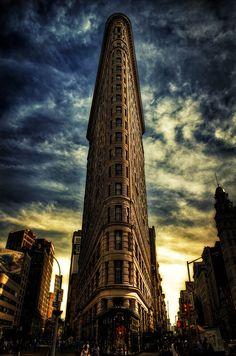 #Edificio Flatiron de Nueva York del #arquitecto Daniel Burnham.