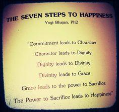 Yogi Bhajan's Seven Steps to Happiness