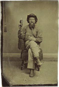 Cigar & whiskey, circa 1875