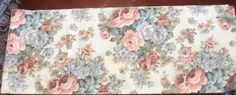 Burlington Shabby Cottage Chic Floral Pink Blue Valance Window Treatment 84 x 15 #Burlington #Cottage