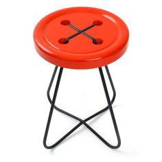 Button stool - Red