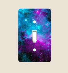 Nebula Galaxy Design Print Image Light Switch Plate: A fun printed item designed and sold by Trendy Accessories Galaxy Decor, Galaxy Theme, Light Switch Plates, Light Switch Covers, Room Ideas Bedroom, Bedroom Decor, Galaxy Bedroom Ideas, Wall Decor, Diy Galaxie