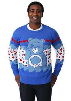 Mens Funny Weightlifting Ugly Christmas Sweater Gain Deer Funny Xmas Sweater