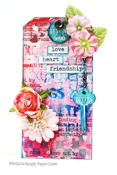 Meihsa Liu Simply paper crafts mixed media tag simon says stamp monday challenge 600