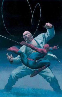 Spider-Man vs King Pin by Esad Ribic *