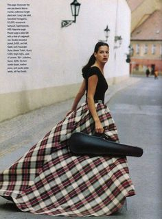 """The Terrier and Lobster: """"Plaid About You"""": Shiraz Tal by Mark Hispard for Marie Claire"""