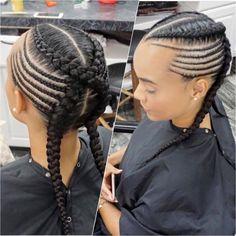 Cornrow Ponytail, Braided Ponytail Hairstyles, African Braids Hairstyles, Braids Hairstyles Pictures, Hair Pictures, Little Girl Hairstyles, Pretty Hairstyles, Hairstyle Ideas, Afro Hair Care