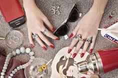 Funky isn't it ? #rednails #luxenter #middleeast #pretty