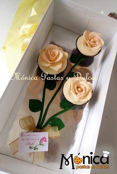 cupcakes con rosas de azucar