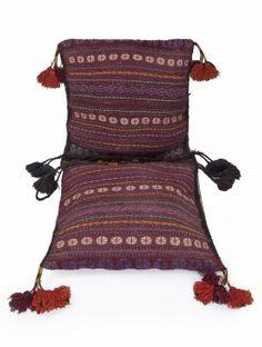 Multi-Color Wool Bilouch Kilim Saddle Bag 59in x 25in