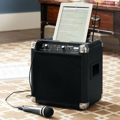 Super compact and totally portable, this little system has massive sound. It connects wirelessly to any Bluetooth® device, from iPads® and iPods® to Androids™ and iPhones®, so you can stream music anywhere. Techno Gadgets, Electric Violin, Makeup Desk, Pb Teen, Bachelorette Pad, Pottery Barn Teen, College Fun, Tailgating, Homemaking