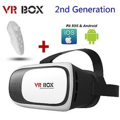 VR BOX V2.0 Virtual Reality headset goggle glasses  Remote for 3D movies gaming