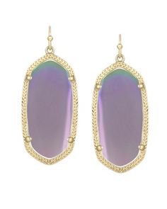 Elle Earrings in Iridescent Agate - Kendra Scott Jewelry. Available October 16, 2013.
