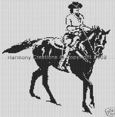 Bead Pattern Cowgirl Riding Horse Cowboy Loom Stitch 008. This is a digital pattern and will be available for download as soon as payment is received. This pattern is a PDF document and you will need Adobe Reader to view it, which can be downloaded for free at www.adobe.com