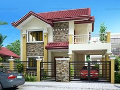 Two Story House Plans Series : Two Story House Design, 2 Storey House Design, Small House Design, Modern House Design, Two Storey House Plans, 5 Bedroom House Plans, House Design Pictures, House Construction Plan, Build Your House