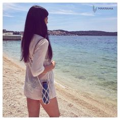 """Makrama życie z pasją 🦋 na Instagramie: """"Dobre niestety szybko się kończy... 🤯 Moje spamowanie Chorwacją również 😅 Czas pomalu wracac do domku... . . . .#ootd #naplażę #stylizacja…"""" Macrame, Cover Up, Ootd, Beach, Modern, Instagram, Dresses, Fashion, Vestidos"""
