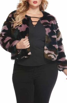 643ed6e526b Rebel Wilson x Angels Faux Fur Jacket (Plus Size)