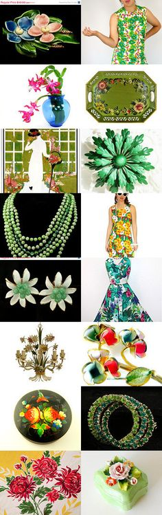 LOVE THESE COLORS! | The Spring has Sprung at VogueTeam by Aggie on Etsy--Pinned with TreasuryPin.com