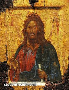 Saint John the Baptist, circa from Constantinople, from the collection of the British Museum. Byzantine Art, Byzantine Icons, Russian Icons, Russian Art, Religious Icons, Religious Art, Roman Church, Christian Religions, Christian Art