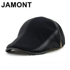 2c4f39d5493 Jamont Winter Elderly Men Hat Newsboy Cap Flat Beret Cap For Male Thick  Wool Beret Peaked Hats Boina Vintage Plaid Warm Bonnet