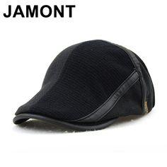e24ea096aad Jamont Winter Elderly Men Hat Newsboy Cap Flat Beret Cap For Male Thick  Wool Beret Peaked Hats Boina Vintage Plaid Warm Bonnet