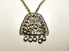 Vintage Tibetian Large pendent Necklace by houuseofwren on Etsy
