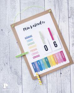 skolstartspyssel - Pysselbolaget - Fun Easy Crafts for Kids and Parents My Calendar, Craft Tutorials, December, Printables, Paper, Instagram Posts, Blog, How To Make, Crafts