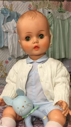 "1950's horsman baby doll (26"")"