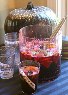 Adult Halloween Party - How to Make Red Wine Sangria with Dripping Fake Blood