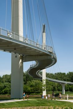 Walk across the Bob Kerry Pedestrian Bridge over the Missouri River- between Omaha, NE and Council Bluffs, IA
