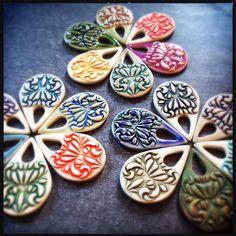 Porcelain pendants. | Nancy Adams | Flickr