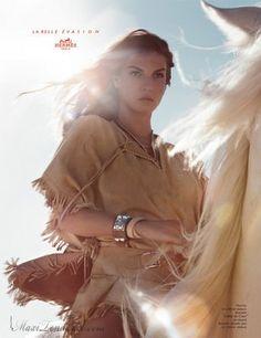 Hermès Campagne Pub Eté 2009 avec Angela Lindvall