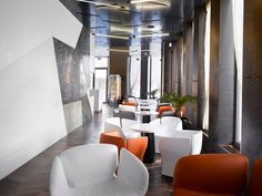 J&T BANKA CAFÉ BRNO, Armstrong, sufity podwieszane, sufit akustyczny, acoustic, ceiling,  metal, microperforated