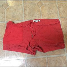 Forever 21 Red Shorts Super light weight and comfy. Perfect for summer ! Forever 21 Shorts Jean Shorts