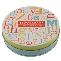 Typography Coasters