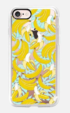 Casetify saved to Casetify | iPhone 7 Case / iPhone 7 Plus Case and Cover Idea Casetify iPhone 7 Classic Grip Case - Banana and tropical leaves pattern by Marta Olga Klara #Casetify #banana #pattern
